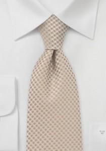 Krawatte sandfarben Rauten-Pattern