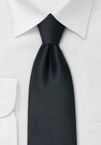 Moulins Mikrofaser Krawatte in schwarz