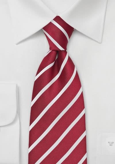 Krawatte Business-Streifendessin sherryrot