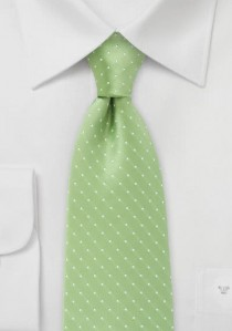 Punkte-Krawatte grasgrün