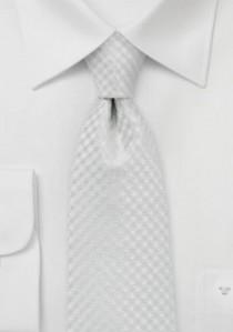 Krawatte Karo-Struktur perlweiß