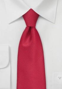 Krawatte mittelrot Struktur