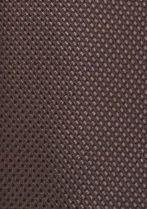 Krawatte dunkelbraun strukturiert