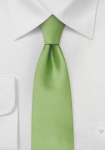 Schmale Mikrofaser-Businesskrawatte unifarben grün