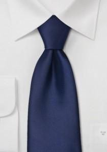 Elegante, einfarbige Krawatte in navyblau
