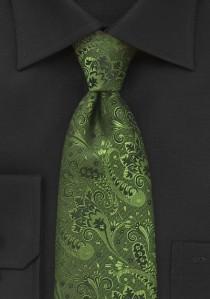 Krawatte vegetatives Muster tannengrün