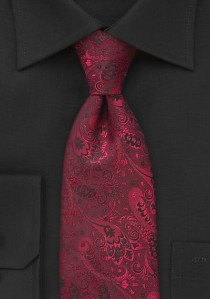 Krawatte vegetatives Muster mittelrot