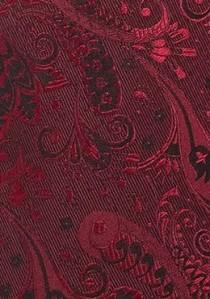 Krawatte florales Dessin rot