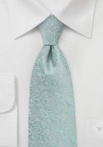 Paisley-Muster-Krawatte in mintgrün und grau