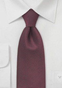 Krawatte Struktur bordeauxrot fast metallisch