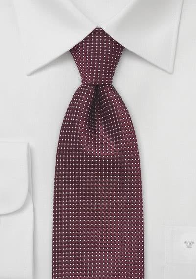 Krawatte strukturiert bordeaux fast metallartig