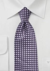 Krawatte Punkt-Pattern lila