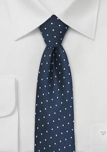 Schmale Krawatte klassisch tupfengemustert