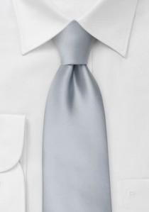 Moulins Mikrofaser Krawatte in silber