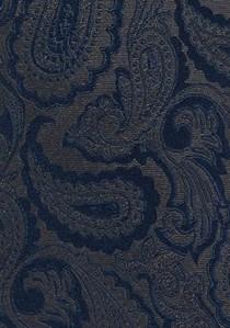 Krawatte Paisleymuster dunkelbraun