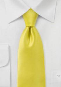 Krawatte unifarben Poly-Faser limonengelb