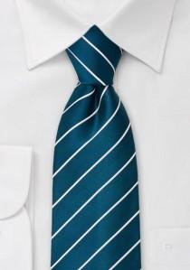 Kravatte schlank blumig leichtblau Leinen / Seide