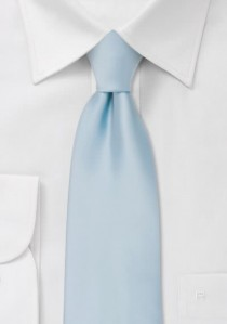 Krawatte einfarbig Poly-Faser eisblau