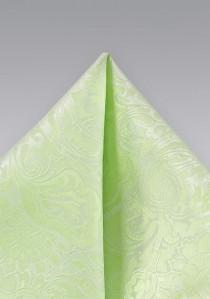 Kavaliertuch blassgrün vegetatives Motiv