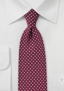 Krawatte Punkte-Vierecke burgunderrot