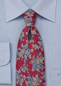 Krawatte rot Paisley-Motiv