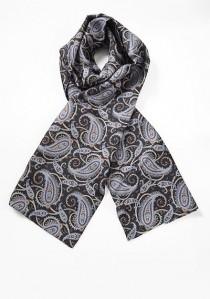 Auffallender Krawattenschal buntes Paisleymuster