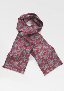 Krawattenschal exotisches Paisley-Muster rot