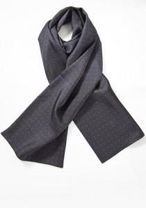 Krawattenschal Ornamente nachtblau