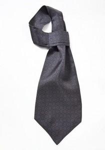Schal-Krawatte nachtblau Seide Embleme