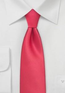 Moulins Schmale Krawatte leuchtend rot einfarbig