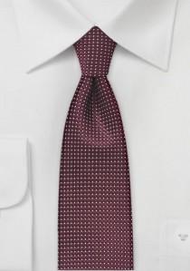 Schmale Krawatte Struktur bordeauxrot fast