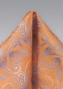 Kavaliertuch raffiniertes Paisley orange