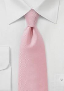 Businesskrawatte geriffelte Struktur rosé