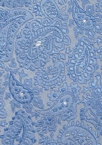 Perfekte Kravatte Paisleymotiv eisblau perlgrau