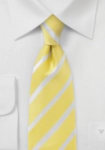 Linien-Krawatte gelb strukturiert
