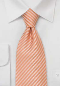 Orange Krawatte mit Streifen