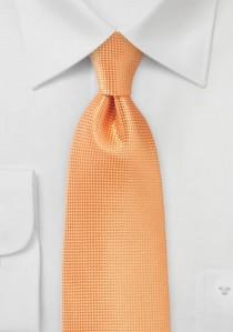 Krawatte einfarbig strukturiert kupfer