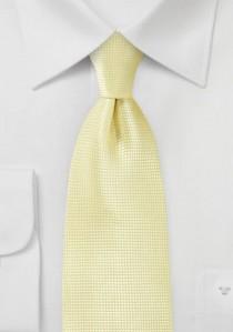 Krawatte einfarbig Struktur blassgelb