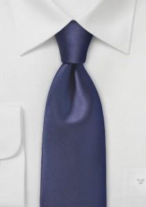 Herrenkrawatte unifarben Kunstfaser nachtblau