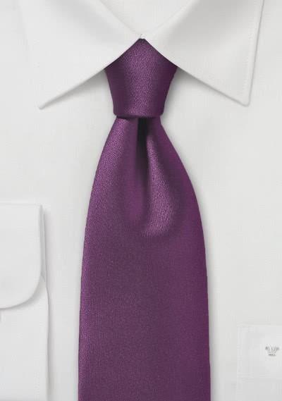 Krawatte monochrom Poly-Faser aubergine