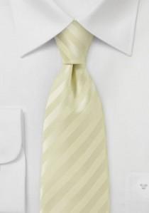Linien-Krawatte creme
