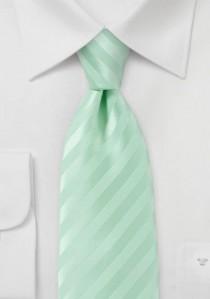 Streifen-Kravatte blassgrün