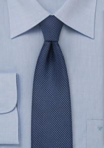 Schmale Krawatte marineblau strukturiert