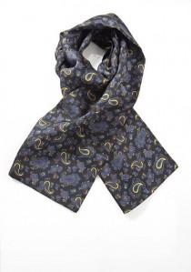 Krawattenschal nachtschwarz Paisleymotiv