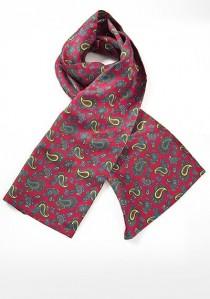 Roter Krawattenschal mit buntem Paisley-Motiv