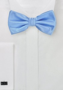 Herrenschleife eisblau Poly-Faser