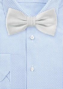 Herrenschleife einfarbig perlweiß strukturiert