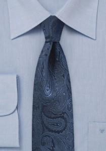Krawatte Paisleymuster  schmal navy