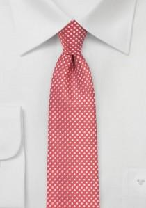 Krawatte zierliche Tupfen erdbeerrot
