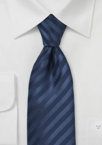 Herrenkrawatte Streifen marineblau Ton in Ton